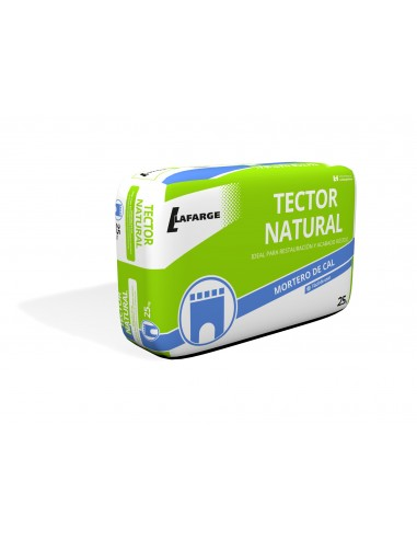 TECTOR NATURAL BASE 25KG. MORTERO CAL